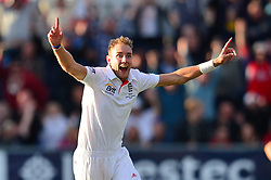 File photo dated 12-08-2013 of England's Stuart Broad celebrates victory over Australia during day four of the Fourth Investec Ashes test match at the Emirates Durham ICG, Durham.