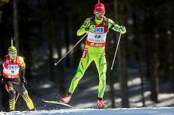 FAK Jakov of Slovenia during Men 12.5 km Pursuit competition of the e.on IBU Biathlon World Cup on Saturday, March 8, 2014 in Pokljuka, Slovenia. Photo by Vid Ponikvar / Sportida