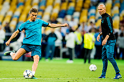 May 25, 2018 - Kyiv, UKRAINE - 180525 Cristiano Ronaldo and Zinedine Zidane, head coach of Real Madrid, during a training session on May 25, 2018 in Kyiv..Photo: Vegard Wivestad GrÂ¿tt / BILDBYRN / kod VG / 170177 (Credit Image: © Vegard Wivestad Gr¯Tt/Bildbyran via ZUMA Press)