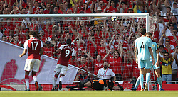Arsenal's Alexandre Lacazette scores his side's second goal of the game