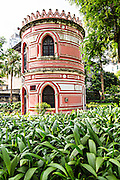 The Association for the Handicapped building in the Jardim do Sao Francisco or Sao Francisco Garden in Macau.