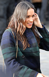 February 13, 2018 - Edinburgh, SCOTLAND - Meghan Markle visits outside the Edinburgh Castle during the visit to Edinburgh, Scotland, 13.02.2018..Credit: PPE/face to face.- No rights for the Netherlands  (Credit Image: © face to face via ZUMA Press)