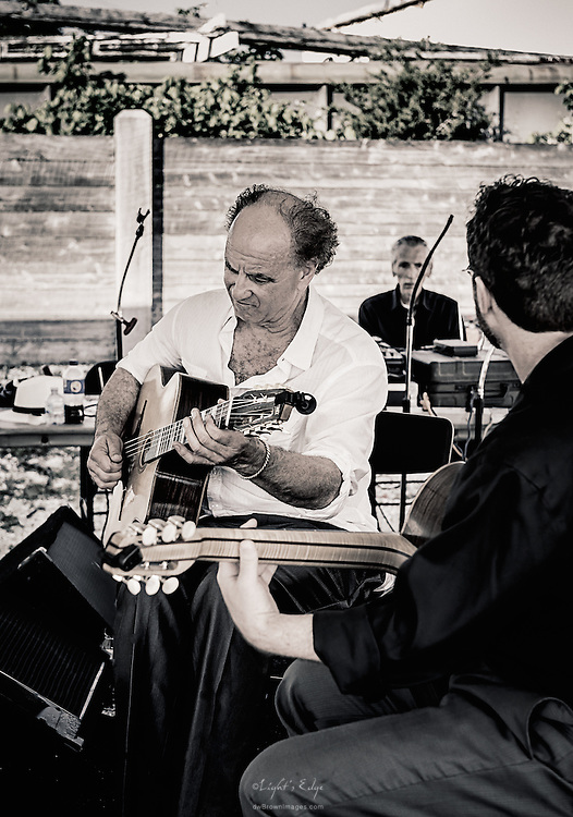 Richard Sheppard and Jack Soref  of Ameranouche on guitars during the Delaware Bay Day held at Bayshore Center at Bivalve.