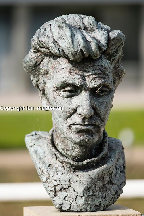 Bust of Scottish Poet WS Graham at Edinburgh Park a modern business park at South Kyle in Edinburgh, Scotland, United Kingdom.