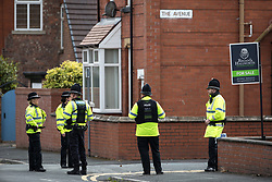 May 30, 2017 - Wigan, Greater Manchester, UK - Wigan , UK . Police raid a house at 5 Springfield Street , Wigan . It is believed the raid is in connection with the investigation in to a murderous bomb attack at an Ariana Grande gig at Manchester Arena on Monday 22nd May  (Credit Image: © Joel Goodman/London News Pictures via ZUMA Wire)