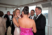 DEANA MORGAN; KIMBERLEY WALSH; Breast Cancer Haven 10th Anniversary Gala Event aboard Super Luxury Yacht Seabourn Sojourn. Off Canary Wharf. London. 5 June 2010. -DO NOT ARCHIVE-© Copyright Photograph by Dafydd Jones. 248 Clapham Rd. London SW9 0PZ. Tel 0207 820 0771. www.dafjones.com.