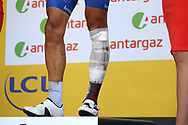 Podium, Philippe Gilbert (BEL - QuickStep - Floors) injury after a spectacular crash, he gives up the race during the 105th Tour de France 2018, Stage 16, Carcassonne - Bagneres de Luchon (218 km) on July 24th, 2018 - Photo Kei Tsuji / BettiniPhoto / ProSportsImages / DPPI