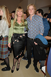DEBBIE LENG and her son RUFUS TAYLOR at Fashions for The Future presented by Oceana's Junior Council held at Phillips Auction House, 30 Berkeley Square, London on 19th March 2015.