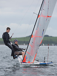 Largs Regatta Week 2015, hosted by Largs Sailing Club and Fairlie Yacht Club<br /> <br /> F H'cap, 2206, 29er, Mara Lyon, Rory Harper, LLSC/PSC<br /> <br /> Credit Marc Turner