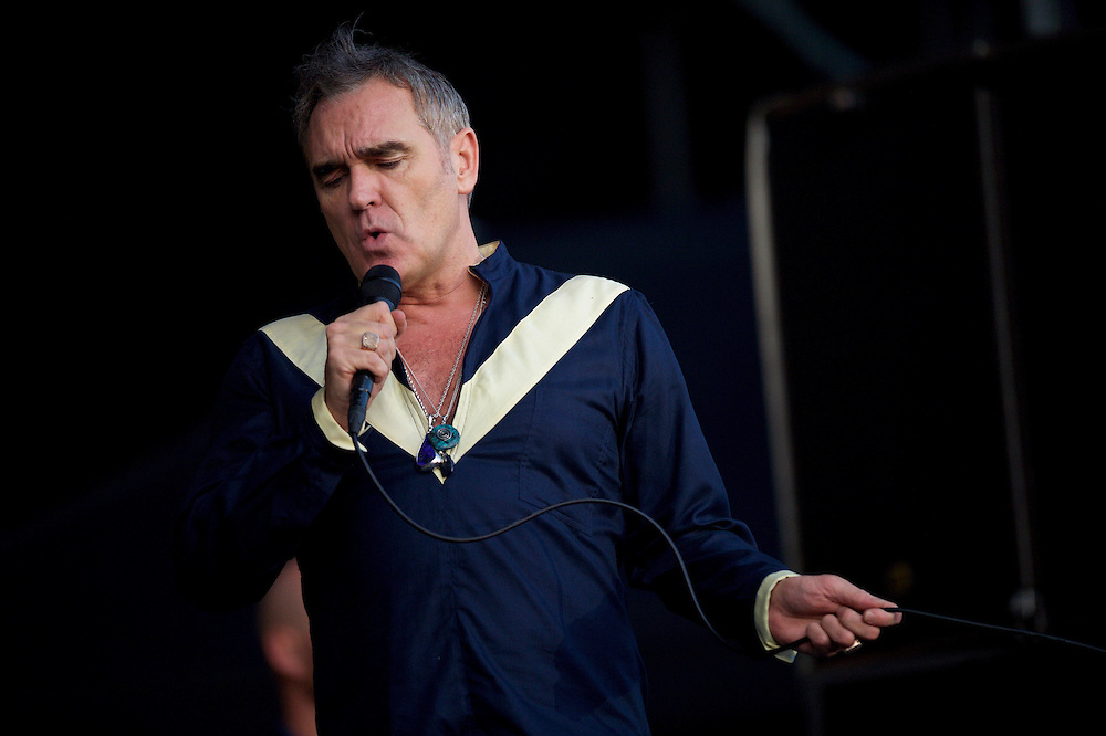 Morrissey performs at the Firefly Music Festival in Dover, Delaware June 19, 2015.  According to organizers, attendance exceeded 90,000 for the four day festival, which featured more than 110 acts, and was set in 105 acre grounds of the Dover International Speedway.