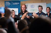 DEUTSCHLAND - BONN - Bertrand Piccard (M) an der Präsentation der 'World Alliance for Efficient Solutions' der Solar Impulse Foundation, auf der Klimakonferenz COP 23 Fiji in Bonn - 14. November 2017 © Raphael Hünerfauth - http://huenerfauth.ch