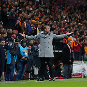 Istanbul Basaksehir's coach Abdullah Avci during their Turkish Super League soccer match Galatasaray between Istanbul Basaksehir at the AliSamiYen Spor Kompleksi TT Arena at Seyrantepe in Istanbul Turkey on Saturday, 14 March 2015. Photo by Aykut AKICI/TURKPIX
