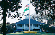 The clubhouse at Augusta National Golf Club, home of the PGA Masters Tournament.