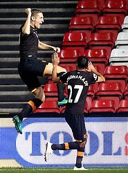 Michael Dawson of Hull City celebrates scoring a goal  - Mandatory by-line: Robbie Stephenson/JMP - 25/10/2016 - FOOTBALL - Ashton Gate - Bristol, England - Bristol City v Hull City - EFL Cup