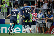 Kylian Mbappe of France celebrates after his goal during the 2018 FIFA World Cup Russia, final football match between France and Croatia on July 15, 2018 at Luzhniki Stadium in Moscow, Russia - Photo Thiago Bernardes / FramePhoto / ProSportsImages / DPPI
