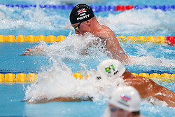 July 26, 2017 - Budapest, Hungary - Adam Peaty (GBR) competes and wins his Gold medal on Men's 50 m Breaststroke final during the 17th FINA World Championships, at Duna Arena, in Budapest, Hungary, Day 13, on July 26th, 2017. (Credit Image: © Foto Olimpik/NurPhoto via ZUMA Press)
