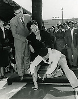 1951 or 52? Ava Gardner's hand/footprint ceremony at the Chinese Theater