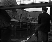 Canal Scene- with Barge - James St. .20/01/1959 .