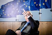 Brussels BELGIUM 2019 02 15 President of the European Commission during an interview with Markus Grabitz of the Stuttgarter Zeitung / Stuttgarter Nachrichten<br /> Der Tagesspiegel / Rheinische Post / Die Rheinpfalz at his office.