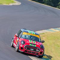 Alton, VA - Aug 26, 2016:  The The MINI JCW Team races through the turns at the Oak Tree Grand Prix at Virginia International Raceway in Alton, VA.