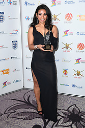 Ruqsana Begum wins the UK Sport Inspirational Performance at the third Lycamobile British Ethnic Diversity Sports Awards BEDSAs, held at the Park Lane Hilton Hotel, London