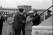 Belgian Royal Visit - King Baudouin and Queen Fabiola depart from Dublin Airport after their three-day state visit to Ireland.<br /> 17.05.1968