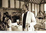 Ed Victor hosting a party at his house in Bridgehampton. Long Island. 1989.<br />© Copyright Photograph by Dafydd Jones 66 Stockwell Park Rd. London SW9 0DA Tel 0171 733 0108