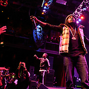 SILVER SPRING, MD - January 1st, 2012 - Rapper and D.C. native Wale (right) and his hype man Tre performs at the Fillmore Silver Spring in Silver Spring, MD. Wale released his sophomore album, Ambition, in November. (Photo by Kyle Gustafson/For The Washington Post).