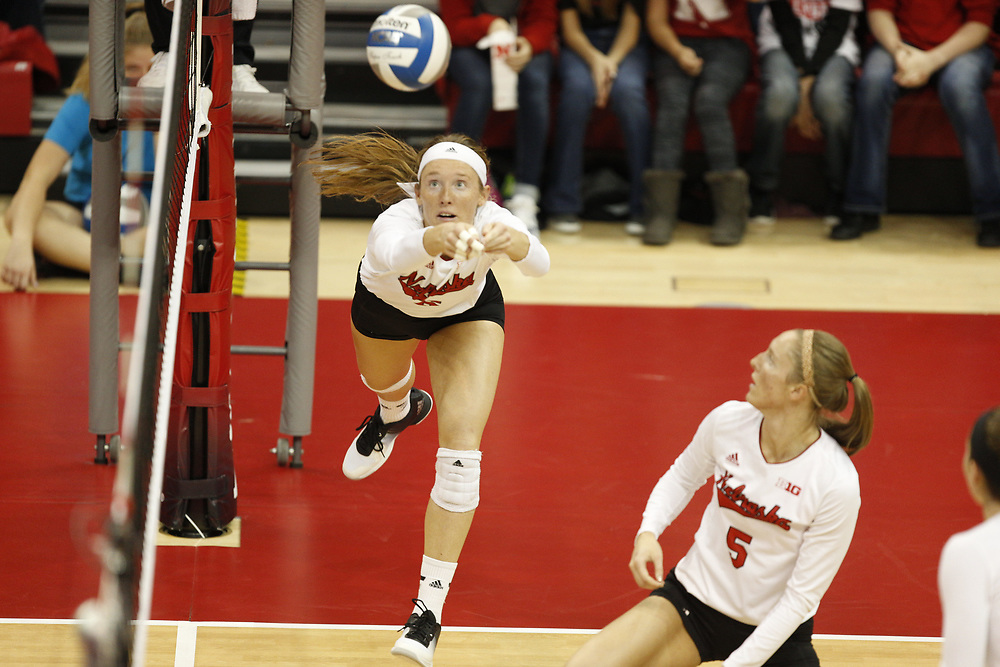 during Nebraska's NCAA Second Round 3-0 win over TCU at the Devaney Sports Center in Lincoln, Neb. on Dec. 3, 2016. Photo by Aaron Babcock, Hail Varsity
