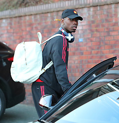 29.9.18…… Some of The Manchester United team arrive back at Wilmslow Train Station on Saturday night after their 3-1 defeat to West Ham…… Paul Pogba, Victor Lindelof, Matteo Darmian and Luke Shaw all got off the train…….. Paul Pogba with his minder/driver.