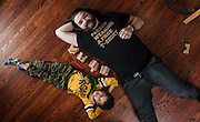 BALTIMORE, MD -- 12/22/14 -- Benjamin Jancewicz, 31, a designer from Baltimore, with his son, Arion Jancewicz, 6, talks about the complexity of being a biracial family.…by André Chung #_AC23885