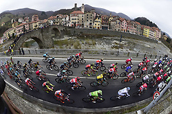March 18, 2017 - San Remo, Italy - The peloton during the UCI WorldTour 108th Milan-Sanremo cycling race with start in Milan and finish at the Via Roma in Sanremo. (Credit Image: © Panoramic via ZUMA Press)