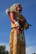 Giant Hiawatha statue, built 1964, weighs eight tons and stands 52 feet tall; Ironwood, Michigan.