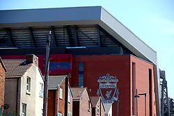 A general view from outside the ground before the Premier League match at Anfield, Liverpool.