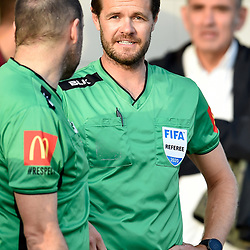 BRISBANE, AUSTRALIA - NOVEMBER 7: Referee Chris Beath looks on during the friendly match between Eastern Suburbs FC and Brisbane Roar FC at Heath Park on November 7, 2020 in Brisbane, Australia. (Photo by Patrick Kearney)