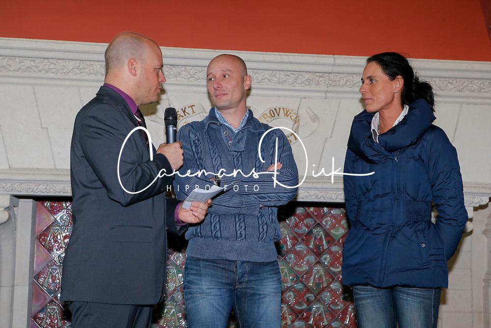 "Devroe Jeroen and Michele Georg<br /> Pressconference ""Vlaanderens Kerstjumping"" - Mechelen 2012<br /> © Dirk Caremans"