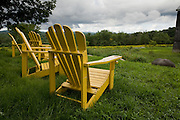 Adirondack chairs outside Sweetgrass Winery, Union, Maine.