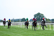 Abr Al Hudood ridden by Oisin Murphy and Trained by Hugo Palmer, Conspiritor ridden by Kieran Shoemark trained by Charles Hills, Lucky Number ridden by Georgia Cox trained by William Haggas, Tell William ridden by Martin Dwyer trained by Marcus Tregoning, Lolita Pulido ridden by David Egan trained by David Loughnane in the Frome Scaffolding Handicap - Mandatory by-line: Robbie Stephenson/JMP - 27/08/2019 - PR - Bath Racecourse - Bath, England - Race Meeting at Bath Racecourse