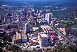 Archival aerial view of Texas Medical Center in Houston, Texas.
