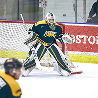 2nd year Goalie, Brandon Holtby (30) of the Regina Cougars during the Men's Hockey Home Game on Sat Jan 19 at Co-operators Center. Credit: Arthur Ward/Arthur Images