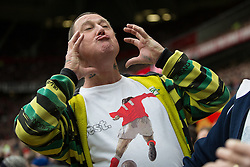 """© Licensed to London News Pictures . 17/05/2015 .  Play underway - """"you've put on weight"""" . 0-0 . Manchester Utd vs Arsenal at Old Trafford Football Stadium , Manchester . Photo credit : Joel Goodman/LNP"""