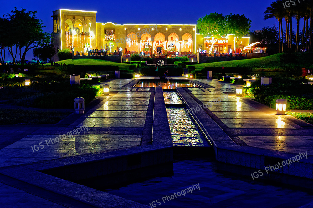 The Hilltop Restaurant in Al Azhar Park is always a favourite place for Egyptians to go out in the evening, especially to celebrate Iftar during Ramadan, the holy month of fasting.