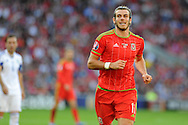 Gareth Bale of Wales in action. Euro 2016 qualifying match, Wales v Israel at the Cardiff city stadium in Cardiff, South Wales on Sunday 6th Sept 2015.  pic by Andrew Orchard, Andrew Orchard sports photography.