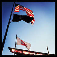 An Instagram of flags at Target Field in Minneapolis, Minnesota.