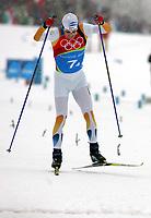 OL 2006 Langrenn menn stafett,<br />Pragelato Plan<br />19..02.06 <br />Foto: Sigbjørn Hofsmo, Digitalsport <br /><br />Mathias Fredriksson SWE - Sverige