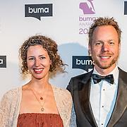 NLD/Hilversum//20170306 - uitreiking Buma Awards 2017, Diggy Dexx en partner Dagmar Holtman