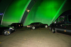 Conor McGregor cars after he arrived at the SEC Armadillo tonight.