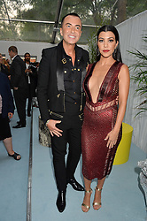 JULIEN MACDONALD and KOURTNEY KARDASHIAN at the Glamour Magazine Women of the Year Awards in association with Next held in the Berkeley Square Gardens, London on 7th June 2016.