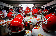 The Kansas City Chiefs before an NFL football game against the San Diego Chargers, Sunday, Jan. 1, 2017, in San Diego. The Chiefs defeated the Chargers, 37-27. (Ryan Kang via AP)