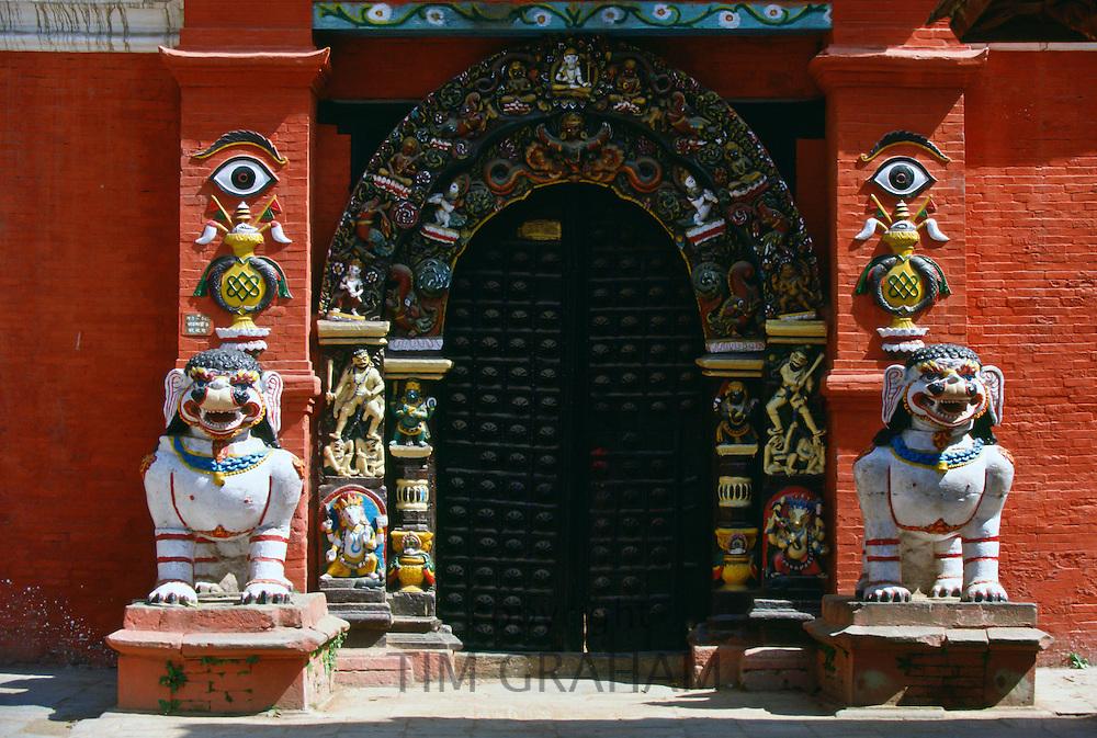 Temple doorway, Bhaktapur, Nepal